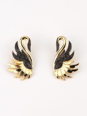 Kuğu Küpe Zirkon Altın