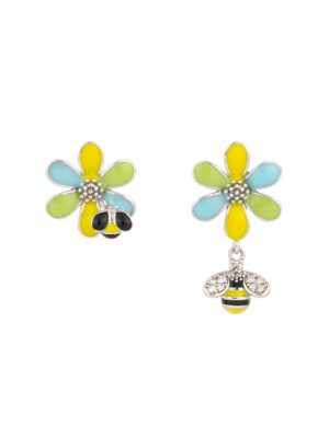 Arılı Çiçek & Böcek Küpe