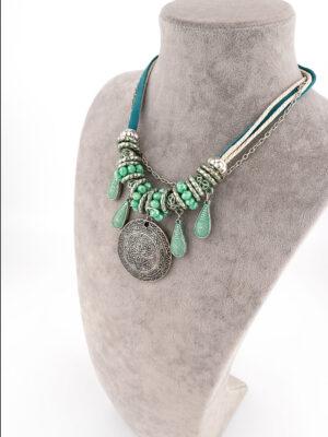 Boho Chic Antik Gümüş Kolye